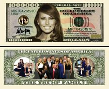 TRUMP MELANIA BILLET MILLION DOLLAR US ! Collection First Lady President Donald