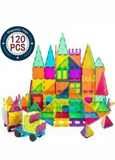 Cossy Kids Magnetic Block Set Toys 120 Pcs Magnet Building Tiles 3D