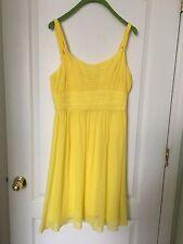 Banana Republic Yellow Silk Cocktail Dress Size 6