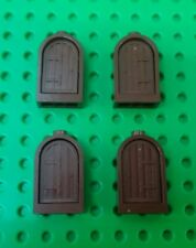 *NEW* Lego 1x2x2 Brown Grill Arch Windows Door Blocks Brick Castles - 4 pieces