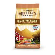 Whole Earth Farms Grain Free Recipe Dry Dog Food, Salmon & Whitefish, 4-Pound