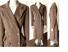 Anne Klein Cashmere VTG Bustle Riding Victorian Goth Brown Steampunk Coat Sz S