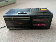 Uni-com Vintage Alarm Clock Radio Cassette Tape Player
