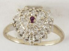 VINTAGE DIAMOND HEART RING 14KWG