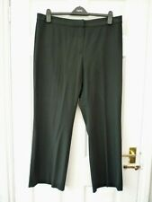 M&S Ladies Size 18 Short 29L Black Smart Work Stretch Straight Tailored Trousers
