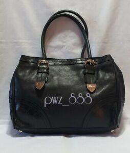 GUCCI Guccissima Black Leather Shoulder Bag