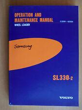 Operation Maintenance Manual Volvo Samsung Radlader SL 330-2 Wheel Loader