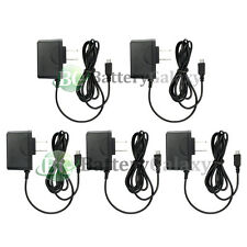 5 HOT NEW Micro USB Battery Wall AC Charger for Samsung Rugby 4/LG G4/HTC One M9