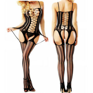 Romantic Sexy lingerie jacquard body stocking Lace underwear Dress plus size1210