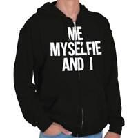 Me Myself And I Funny Sarcastic Novelty Gift Womens Zipper Hoodies Sweat Shirts