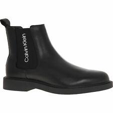 Calvin Klein AW 2019 Men's Yash Waxy Calf Logo Chelsea Boots: UK7/EU41, new