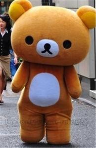 San-X Rilakkuma Brown Bear Mascot Costume Suit Party Dress Halloween Adults Size