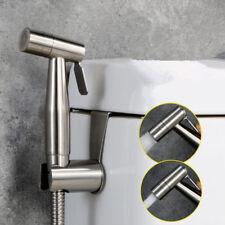 Two Way Bidet Toilet Sprayer Set - Stainless Steel Brushed Nickel Handheld Bidet