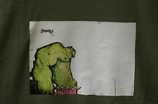 T-Shirt,Herren,Comic,Shirt,Olive,Gr: L,Hero,Künstler-Werkstatt,Fruit of the Loom
