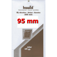 Bandes Hawid double soudure 265 x 95 mm pour blocs, carnets de timbres.