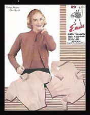 """1950's Knitting Pattern Lady's Classic Twin Set Jumper & Cardigan B 34""""-40"""" PDF"""