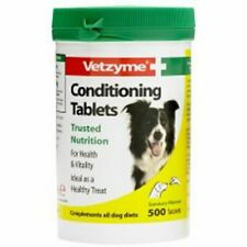 Vetzyme Conditioning Tablets Vitamins Minterals for Dogs Puppies 500 Pack