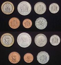 JAMAICA COMPLETE COIN SET 1+10+25 Cents +1+5+10+20 Dollars 1990-2008 UNC LOT 7