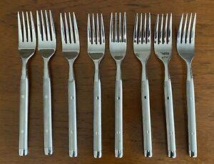 8 Hampton SHANGRILA Frosted Stainless Dinner Forks