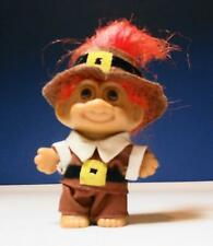 "THANKSGIVING PILGRIM BOY - 3"" Russ Troll Doll, Excellent Clean Condition"