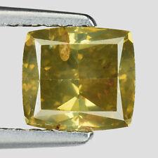 Video! 1.50 Ct Cushion 100% Untreated Natural Rare Fancy Yellow Green Diamond