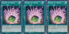 3x Yugioh YSKR-EN041 Shard of Greed Common Card