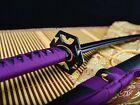handmade full tang black steel blade japanese Katana samurai sword sharp on sale