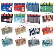 WATERPROOF PICNIC BLANKET FOLDABLE CAMPING TRAVEL BBQ BEACH MAT LARGE SIZE