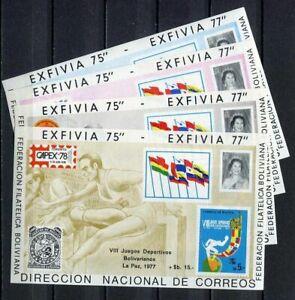 37196) BOLIVIA 1978 MNH** Bolivian Sport Games Michel 74/77