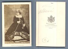 actrice Alboni vintage carte de visite, CDV,  CDV, tirage albuminé, 6 x 10.5 c