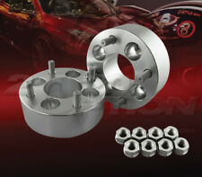 """2pcs 50mm (2"""") Thick 4x100 to 4x100 Wheel Adapters Spacers M12x1.5 Studs"""