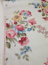 American Folk Farleigh Floral vintage print fabric by the yard pillows drapery