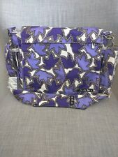 Ju-Ju-Be Be All Baby Diaper Bag - Purple, Black & White - EUC