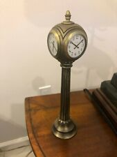 """Bulova 4 Sided Station Clock for table or desk 10"""" tall"""