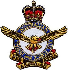 Royal Australian Air Force RAAF Crest Embroidered Crest Patch