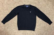 GANT Kids v-neck Jumper, Size Age 7-8, Navy Blue, Genuine, Excellent Condition!