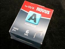 Novus Tackerklammern Typ A 53/6mm 042-0516