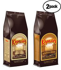 Kahlua 1 Hazelnut 1 French Vanilla Gourmet Ground Coffee 2 BAGS 12oz EACH