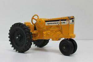 Vintage ERTL Minneapolis Moline Yellow Die Cast Toy Farm Tractor - 1:25 Scale