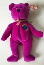 Ty Beanie Baby Millenium Millennium Bear  PE 1999,TAGS,PROTECTOR WITH CASE