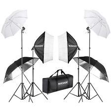 Neewer 800W (4*45W Bombilla)Fotografía Softbox y Paraguas Kit Iluminación