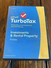 Genuine TurboTax Premier 2014 Fed + State + Fed E-file Tax Software Save Big