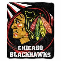 Chicago Blackhawks Puck Sherpa Throw Blanket