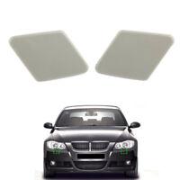 2pcs Bumper Headlight Washer Nozzle Cover Cap fit for BMW 3 Series E90 2005-2009