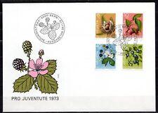 Switzerland - 1973 Pro Juventute / Fruits -  Mi. 1013-16 clean FDC