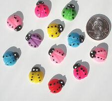 Ladybugs Resin Flatbacks hair bows embellishments scrapbooking craft glue on