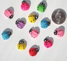 Ladybugs Resin Flatbacks hair bows embellishments scrapbooking craft glue on