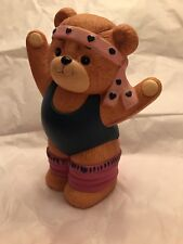 Lucy & Me Exercise Girl Bear Bank; Free Priority Shipping!