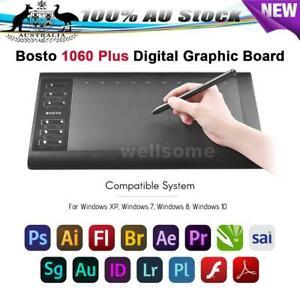 BOSTO1060 Plus Digital Graphic Drawing Painting Tablet 8192 Level Pressure AU