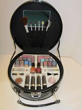 Black Patent Make-Up Kit With All Types of Cosmetics and Applicators
